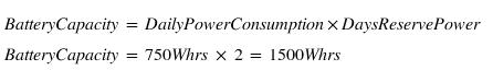 battery size formula