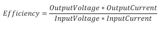 converter efficiency formula