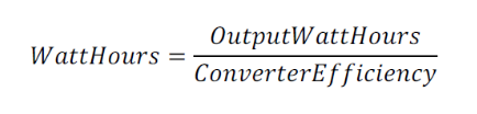 converter efficiency output power formula