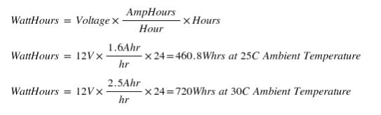 daily power draw formula