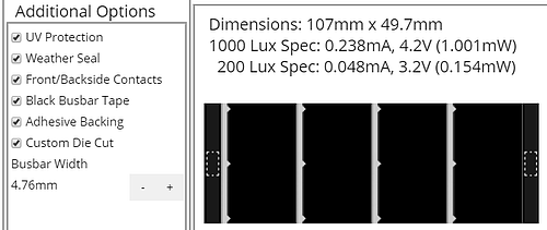 additional custom solar options