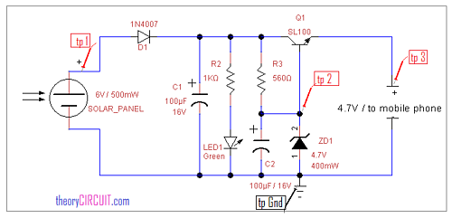 Schematic of a diode regulated charge circuit