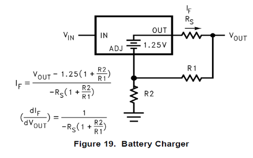 Graphic of a current limited LDO charge circuit.