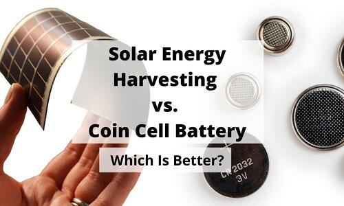 Flexing Solar Panel and Coin Cell Battery Blog Post Title Graphic