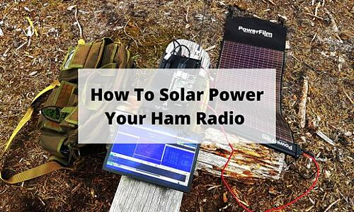 How To Solar Power Your Ham Radio Blog Post Title Graphic