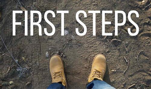 First Steps Blog Post Title Graphic