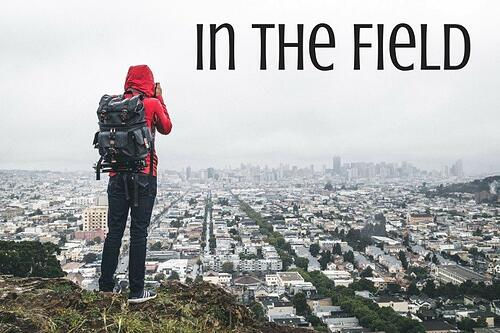In The Field Blog Post Title Graphic