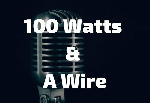 In The Field 100 Watts & A Wire Blog Post Title Graphic