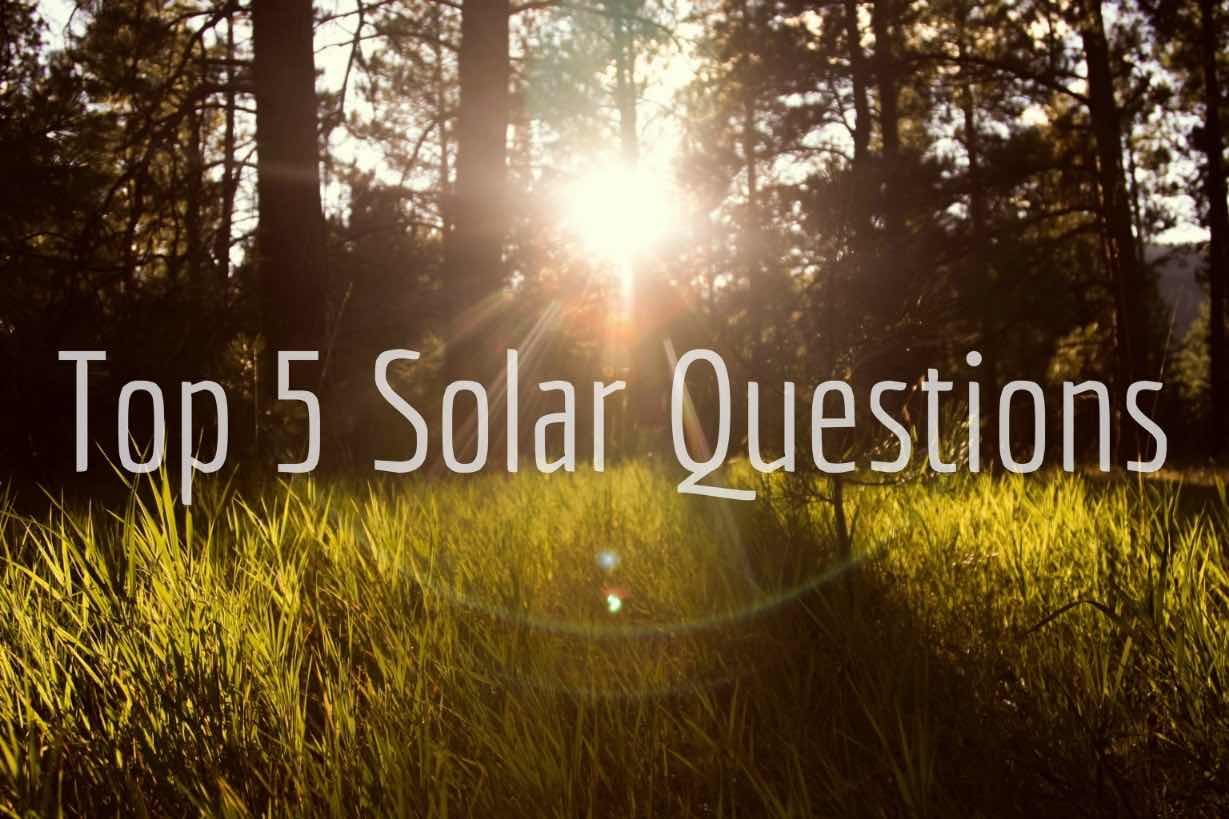 Top 5 Solar Questions Blog Post Title Graphic