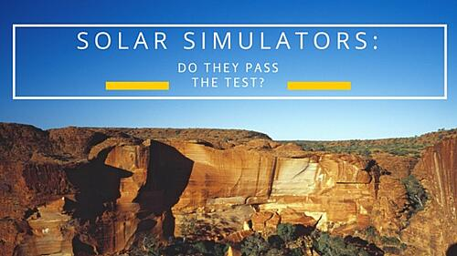 Solar Simulators: Do They Pass The Test? Blog Post Title Graphic