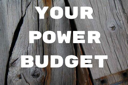 Your Power Budget Blog Post Title Graphic