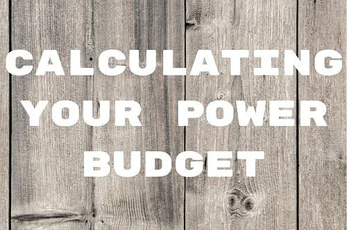 Calculating Your Power Budget Blog Post Title Graphic