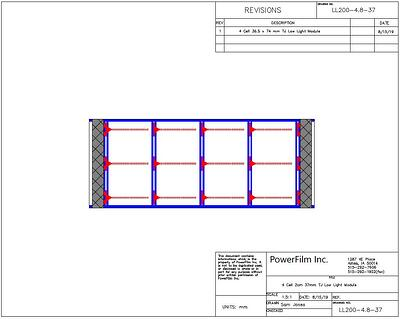 amorphous silicon thin-film electronic component solar panel design drawing